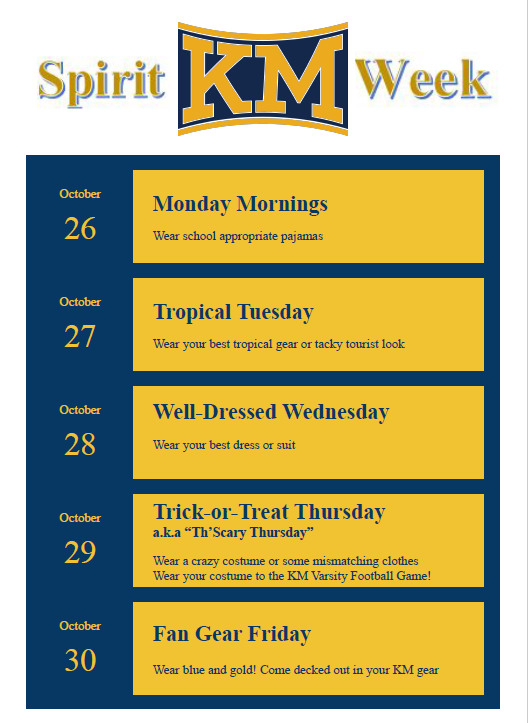 YES!!! There is a HOMECOMING SPIRIT WEEK next week!