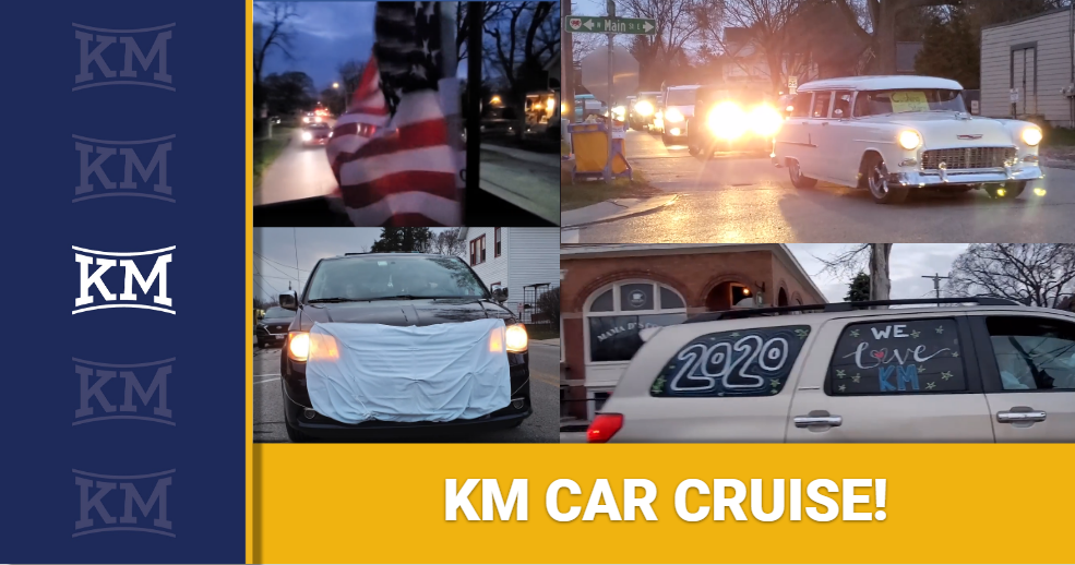 KM CAR CRUISE RAISES SPIRITS AND MORE THAN $500 FOR THE FOOD PANTRY!