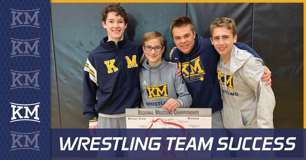 KMHS Wresting Team is #sectionalbound!