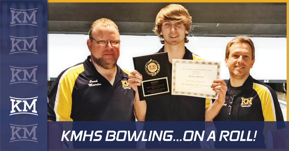THE KMHS BOWLING TEAM IS ON A ROLL!
