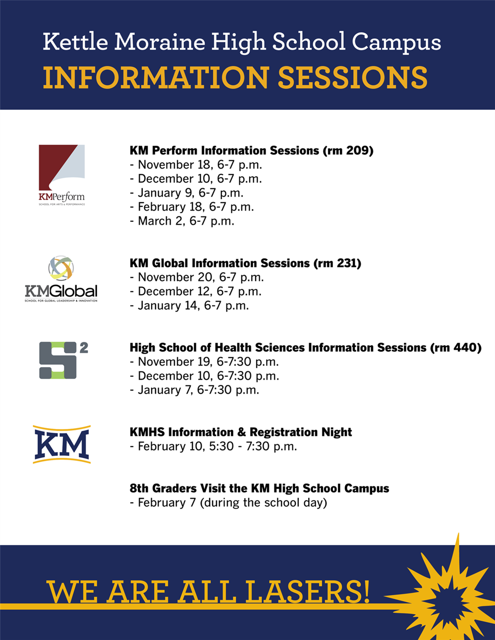 KM Campus Information Sessions