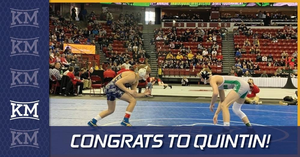 QUINTIN MAKES KM PROUD AT STATE!