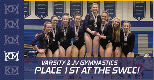 Varsity and JV Gymnastics Place 1st at the SWCC!