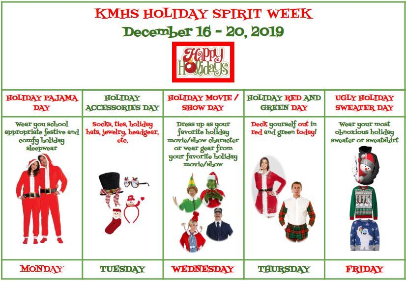 Holiday Spirit Week!