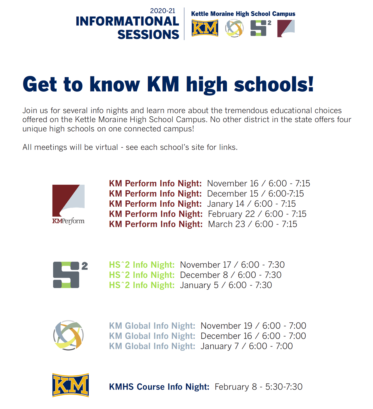 KMHS campus info sessions