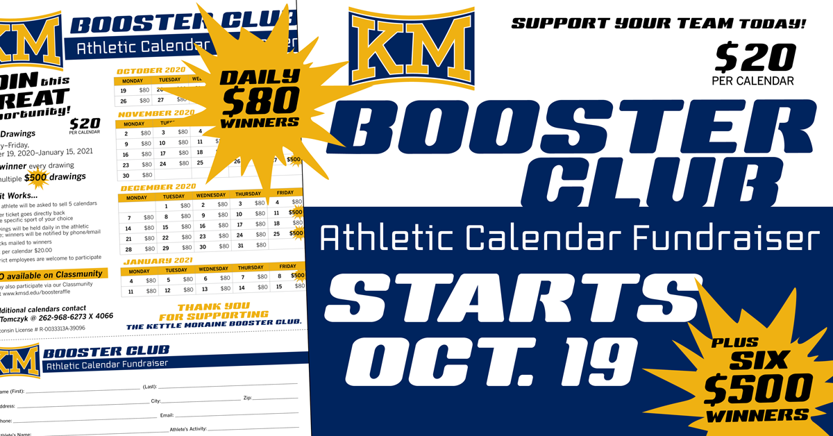 Booster Club Calendar Fundraiser IS BACK!