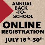 Annual Back-to-School Online Registration is now open
