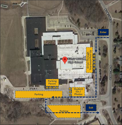 2020-2021 KM High School Campus Onsite Registration Map