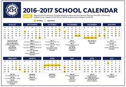 2016-17 School Calendar